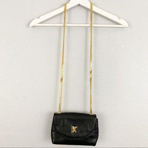 VTG Paloma Picasso black leather shoulder bag